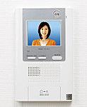 来訪者をカラーモニターで確認できるインターホン。受話器を使わず、タッチで通話・解錠ができる録音機能付ハンズフリーインターホンを採用。