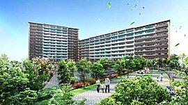 敷地内南側には遊具を備えた提供公園を設置(予定)。美しいシャクナゲなどの花と緑に囲まれた中で、子供たちを遊ばせることができます。