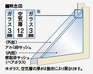 3枚のガラスがつくる空気層が断熱性と遮音性を高め、結露やカビの防止にも役立つことでしょう。