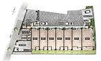 全邸南向きの爽快なレイアウト、共用施設を充実させたランドプラン。