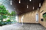森の中のレジデンスを象徴する、美しいデザインの共用施設