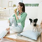 家族と同じ大切なペットとも、気兼ねなく暮らせ、楽しい毎日が過ごせます。※ペットの種類や大きさ、数などは管理規約の制約があります。