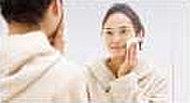 鏡面に曇り止め加工がされた4面鏡。ヒーター不要で電気代ゼロ。