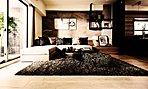 華やかな都心に相応しい、優美で格調高い住空間を実現。(モデルルームAタイプ・無償メニュープラン採用・一部有償オプション含む)
