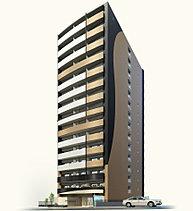洗練と和らぎが融合する表情が印象的な外観デザイン。都心の街並みに洗練された景観が映える15階建のスリムなフォルム。バルコニーは緩やかにカーブを描くデザインとし、安らぎの住まいにふさわしい和らいだ表情を創出。
