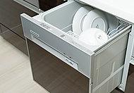 食器の片付けの手間を省く食器洗い乾燥機を設置。お湯で洗浄することにより、汚れをしっかり落とします。