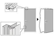 継ぎ目がないのでお手入れが簡単な人造大理石の洗面カウンターです。