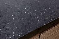 高純度の水晶を含んだクォーツストーンの天板を採用。硬度が高いため、傷つきにくく汚れがしみ込みにくい素材です。