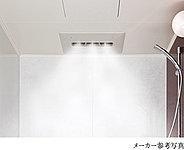 やわらかな霧状の心地良いミスト。3つのノズルで浴室全体にミストが広がったり両端のノズルのみでやわらかなミストが降り注ぎます。