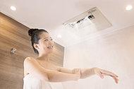 ミストサウナ機能付浴室暖房乾燥機で1日の疲れをリフレッシュ。衣類・浴室乾燥等の機能に加え、「時短」「節水」のミスト入浴が可能。