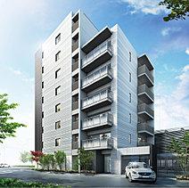 南葛西の街並みと暮らしに新たな価値をもたらす建築。目指したのは街のイメージを高め、この街で暮らす人々に親しまれるファサードを創ること。