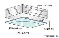 遮音性にも優れた構造と二重天井を採用。将来のリフォームやメンテナンス、天井の照明器具の配置・変更等が可能です。