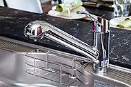 おいしい水が飲めて機能的な浄水器一体型シャワー水栓。