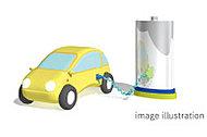 次世代のカーライフを見据え、駐車場の一部に「電気自動車充電用コンセント」を設置しています。