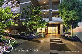 邸宅へのアプローチは、落ち着きのある上質なデザインを大切にしました。 彩られた花々とシンプルに佇む緑の設えであなたと、あなたの大切なゲストを迎えます。