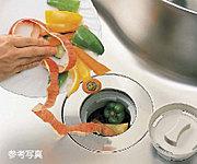 生ゴミをそのまま水と一緒に流して粉砕処理するディスポーザーをご用意。シンク回リを清潔に保ち、ニオイを抑えます。