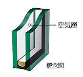 窓ガラスには、2枚の板ガラスを用いた「複層ガラス」を採用。断熱効果と結露対策に有効で、省エネ効果も期待できます。