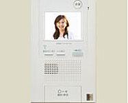 来訪者を映像と音声により確認できます。受話器を持たずに通話できる便利なハンズフリータイプ。録画・録音機能付。