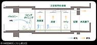 浴室暖房乾燥機を使って住戸内の換気を補完する24時間換気システムを採用。住まいに自然な空気の流れを作るとともにスムーズな空気循環を行ないます