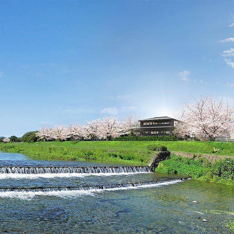 賀茂川沿いの邸宅