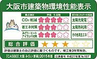※大阪府建築物環境性能表示は、大阪府が認証を与えるものではなく、建築主の自主的な環境配慮への取組み結果を表示するものです。