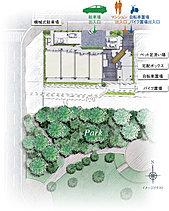 全28邸が南向き。公園に寄り添う全体計画。『ディアエスタ ミオ 垂水海岸通』は、海沿いの景勝地というロケーションを活かした全28邸が南向きの住棟配置。敷地の南側は公園の大樹が緩衝帯となり、成熟した自然の豊かさを身近に感じることができます。