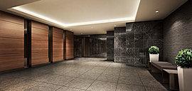 優しく温もりのある色調で統一されたエントランスホール。寛ぎに満ちた意匠で安らぎの時が流れます。