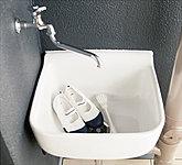 バルコニー、テラスにスロップシンクを備えました。ガーデニングやお掃除など、便利に活用できます。