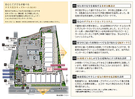全113邸、約4000m2の敷地を活かし、L字に配した2棟構成。