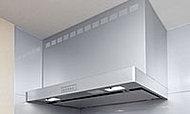 キッチン空間のインテリアを美しく演出する、シャープなスクエアデザインのレンジフードを採用しました。