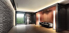 大切なゲストが訪ねてきたときにも、自信をもってお迎えできるよう、エントランスホールはシックな雰囲気の上質空間に仕立てています。