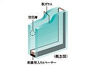 2枚のガラスの間に空気層を設けることによって、高い断熱性を発揮し省エネルギー効果も認められている複層ガラスを採用※詳細は係員にお尋ねください
