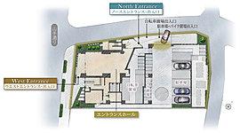 ※掲載の敷地配置・1階イメージイラストは、計画段階の図面を基に描き起こしたもので、形状・色等は実際とは多少異なります。また、一部敷地外の道路等を合わせて着彩しています。