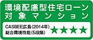 建築物の環境性能などを評価するCASBEE(建築環境総合性能評価システム)広島において、「Aランク」評価になります。※3