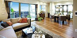 ※5階以上(Cタイプは2階以上)の住戸のバルコニーには、ラミスカイ(ガラスパネル)を使用しております。