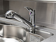 いつでも美味しい水が飲める浄水器一体型混合水栓