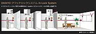 4重の高度なセキュリティ体制により、ご家族の安心と安全を見守ります。※一部を除く ※1