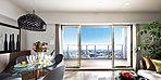 窓外の風景は現地15階相当の高さより南方面を撮影した写真(平成26年12月撮影)をCG処理により合成したものです。