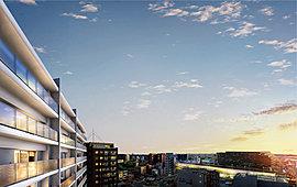 ※2015年8月、現地11階相当より撮影した眺望写真に外観完成予想図を合成・加工したもので、実際とは異なります。また、眺望は、将来にわたって保証されるものではありません。