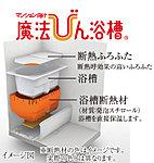 浴槽を断熱材で覆うことで、6時間経っても約2℃しか湯温が下がらない、TOTOの「魔法びん浴槽」を採用。省エネ効果を高めます。