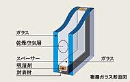 全居室に複層ガラスを採用。断熱性を高めることで、冬の暖房効果を上げるだけでなく、結露の発生も軽減します。