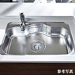 フライパンや大型の中華鍋なども丸ごと洗えるワイドサイズのシンクを採用。さらに水はねの音を抑えた低騒音仕様としています。