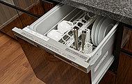 手洗いに比べ、節水ができ、高温洗浄で油汚れもすっきり。食器をセットしやすいカゴを搭載。