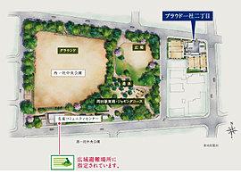 緑溢れる大規模公園に寄り添い暮らす。そこは、駅徒歩5分とは思えない四季に包まれる場所。