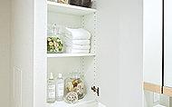 タオル類や洗剤などをしまっておくことができます。