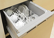 熱湯による洗浄後、熱風で食器の隅々まで乾燥してくれる、衛生面に配慮した食器洗浄乾燥機を標準装備しています。
