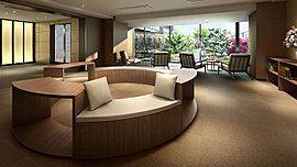 緑の癒しと上質な空間にくつろぐプライベートホール。