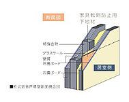 強固な支持層への直接基礎、地震の揺れを吸収する免震構造を採用。※、建物本体は直接基礎、一部(北側低層建物部)は杭基礎になります。