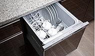 少量の高温のお湯で循環洗浄。手洗いの 場合と比べて作業の手間やCO2を削減でき、水道代・ガス代の節約にもなります。
