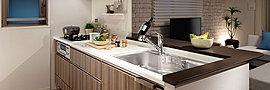 美しさと先進の機能を備えたキッチン。
